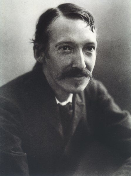ROBERT LOUIS STEVENSON The Scottish writer and poet at the age of 40