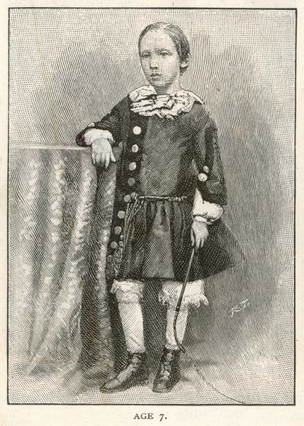 ROBERT LOUIS STEVENSON The Scottish writer and poet at the age of seven
