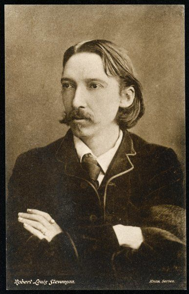 ROBERT LOUIS STEVENSON the young writer in pensive mood