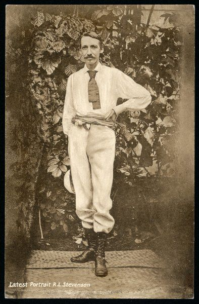 ROBERT LOUIS STEVENSON the Scottish novelist at Vailima - this is said to be the last portrait taken of him