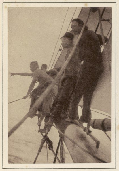 ROBERT LOUIS STEVENSON Scottish writer sailing to the South Seas on the schooner yacht 'Casco&#39