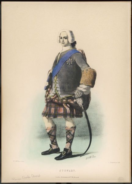 The STEWART clan, represented by Charles Edward, known as Bonnie Prince Charlie to some, as The Young Pretender to others