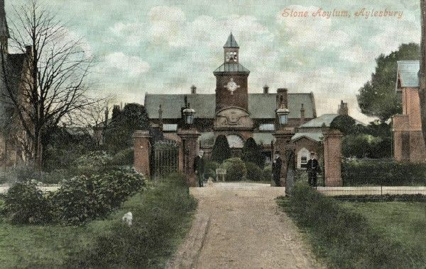Entrance to the Buckinghamshire County Lunatic Asylum at Stone, near Aylesbury
