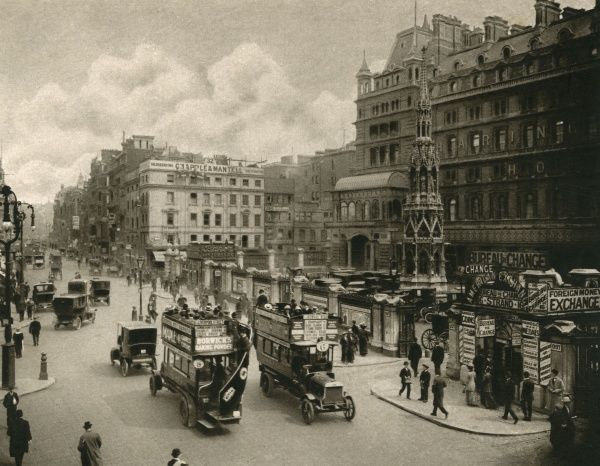 The Strand at Charing Cross Date: circa 1908