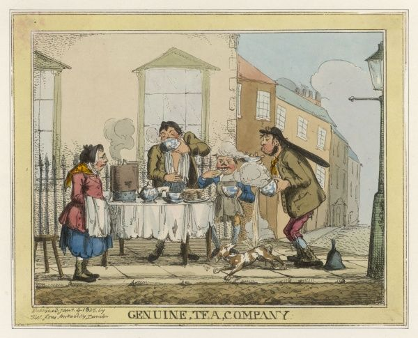 GENUINE TEA COMPANY A satire on the passion for tea drinking and the pretensions of the 'lower orders' to middle class gentility