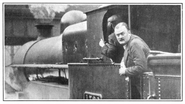The grandson of the 2nd Earl of Lichfield as a volunteer train driver during the General Strike