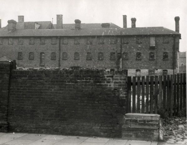 The derelict buildings of the Strood (formerly North Aylesford) Union workhouse, erected in 1837 on Gun Lane in Strood. Date: Date unknown