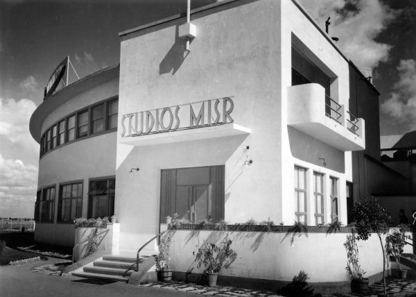 Studio Misr, founded in 1935 by Egyptian economist Talaat Harb. In its heyday it was the only film studio in the world producing Arabic movies, Based in Cairo, Egypt. Date: 1930s