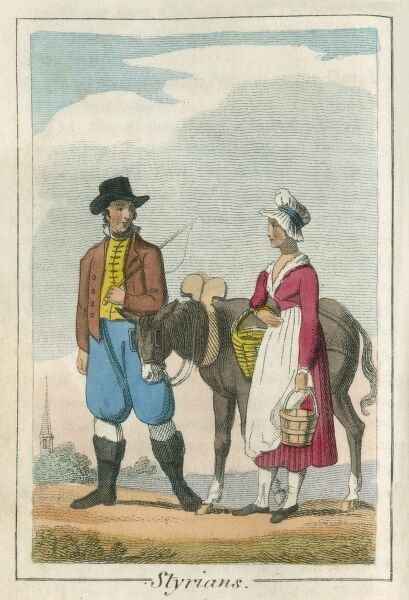 A book of national types and costumes from the early 19th century