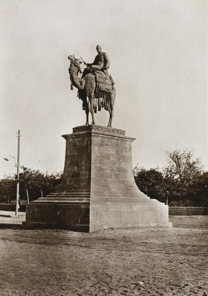 Sudan - Khartoum - The Gordon Statue on a rather fine fluted stone plinth