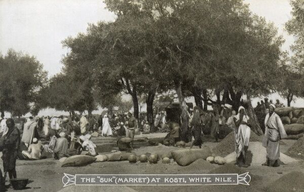 Sudan - The Market ('Suk') at Kosti, White Nile Date: circa 1910s