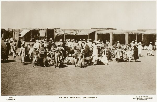 The Marketplace at Omdurman, Sudan. The site of the Battle of Omdurman on 2nd September 1898. Winston Churchill famously rode with the 21st Lancers - three Victoria Crosses were awarded as a result of the action
