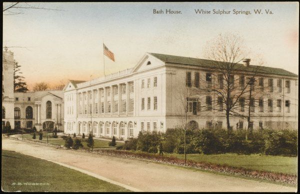 Bath house: White Sulphur Springs in West Virginia