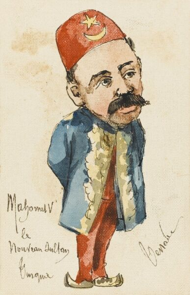 Celebrating the new Sultan. Sultan Mehmed V Reshad of Turkey (1844 - 1918)