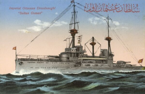 Dreadnought of the Imperial Ottoman Empire - The Sultan Osman Date: circa 1910s