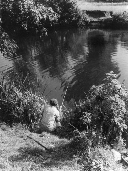 'Summer's Recreation' : An angling study. Date: 1950s