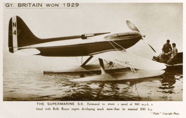 The Supermarine S6 which helped Great Britain win the Schneider Trophy in 1929
