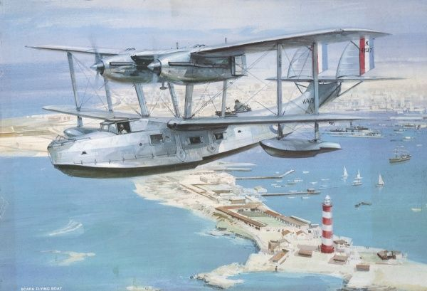 The Supermarine Southampton, one of the most successful flying boats of the between- war period. Sometimes known as the Scapa or Stanraer