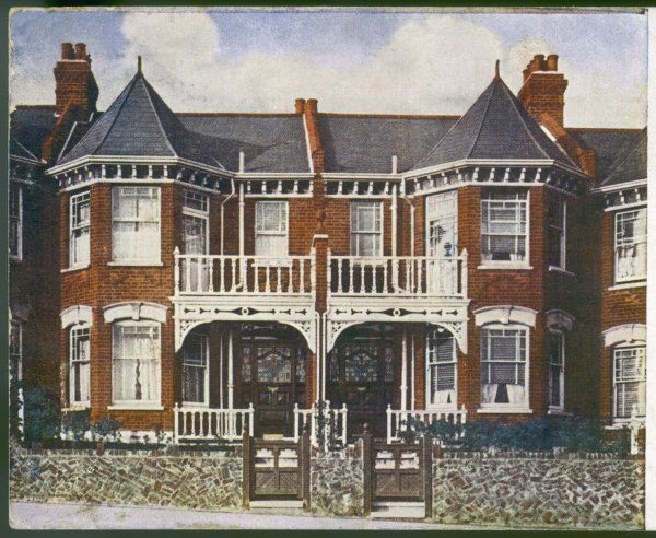 An English suburban semi- detached house in Dudding Hill, Neasden, north London, available for 10 down and 10 shillings 7 pence per week for 15 year&quot