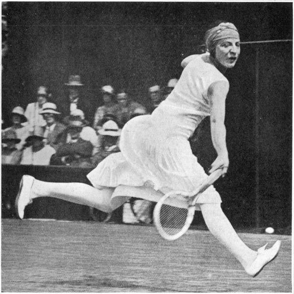 Suzanne Lenglen (1899 - 1938), French tennis player, winner of 81 singles titles during the 1920s