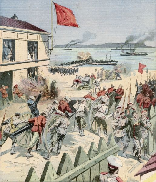 Scene at the Sveaborg Rebellion, which began on 30 June 1906