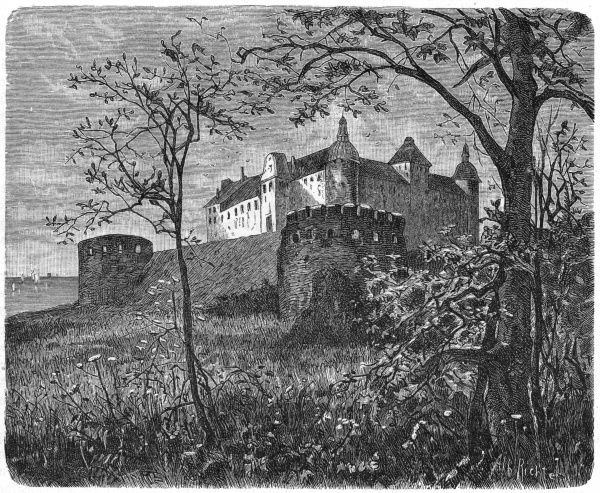 Exterior view of the castle Date: circa 1860