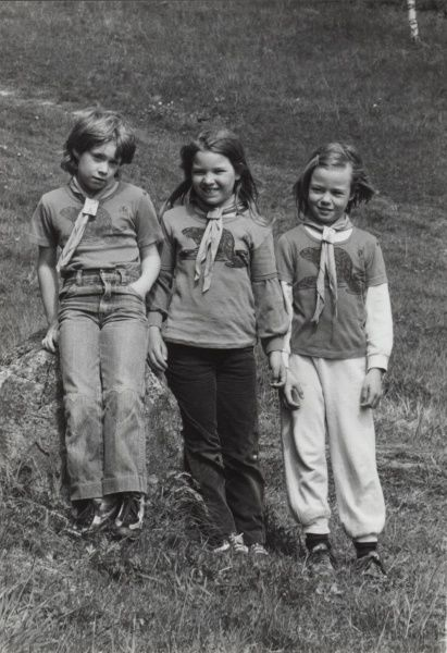 Three Swedish Beaver Scouts.  circa 1980s