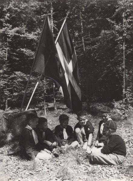 Swedish Cub Scouts and Flags. circa 1950s