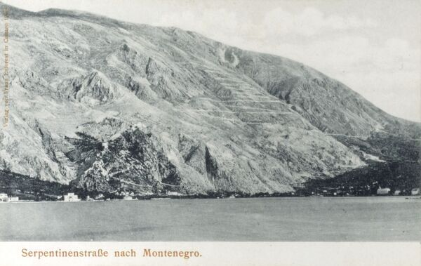 Switchback Road from Kotor to Cetinje - Montenegro Date: circa 1910s