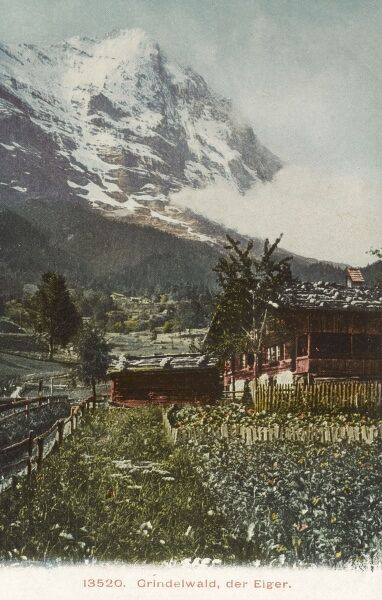Switzerland - The Eiger viewed from Grindelwald Date: circa 1910s
