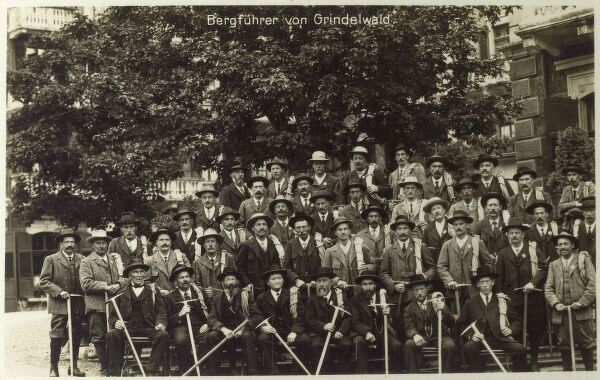 Switzerland - Grindelwald - Mountain Guides Date: 1920s