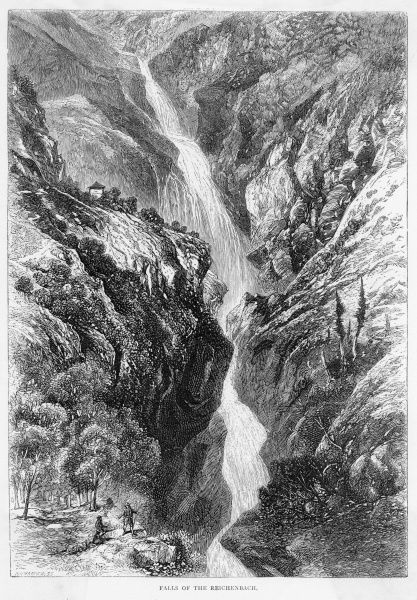 The Reichenbach falls, where Sherlock Holmes and professor Moriarty are supposed to have fallen to their deaths