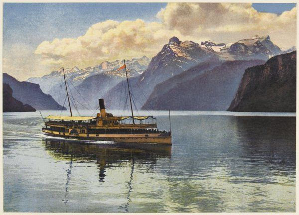the Urnersee, with a steamboat