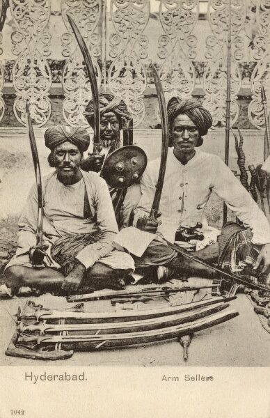 Sword Sellers - Hyderabad, India Date: 1904
