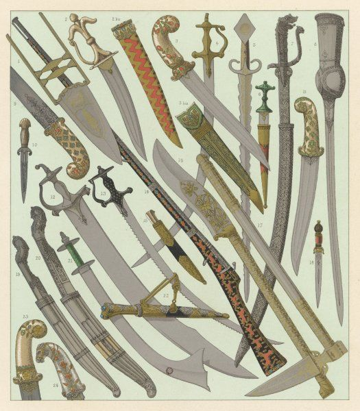 Swords and daggers, mostly of Indian orgin, some of Persian and Turkish