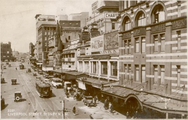 Liverpool Street, Sydney, New South Wales, Australia c. 1920s