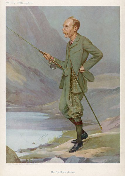 SYDNEY CHARLES BUXTON The Post-Master General enjoying a spot of fly fishing