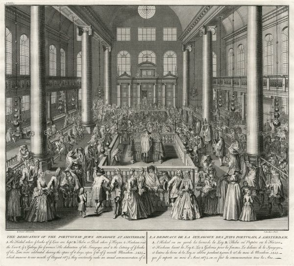 The dedication of the Portuguese Jewish Synagogue at Amsterdam