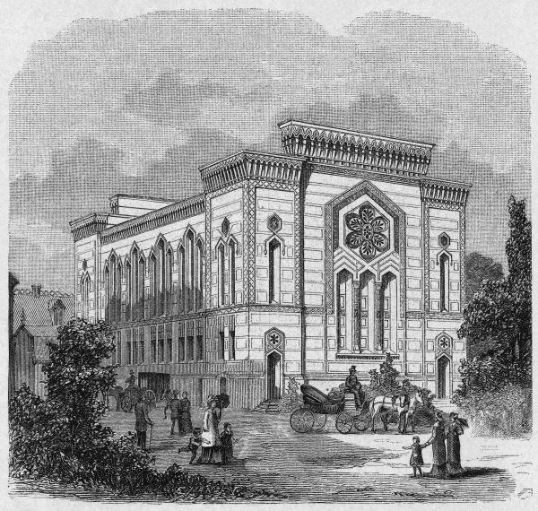 The synagogue for Stockholm's Jewish population. Date: 1881