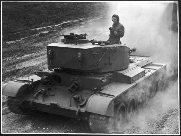 A British Vickers-Armstrong Comet Cruiser tank undergoes tests