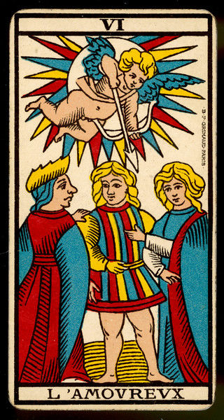 Tarot Card 6 - L'Amoureux (The Lover or Lovers)