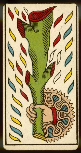 Tarot Card - As de Baton (Ace of Clubs)