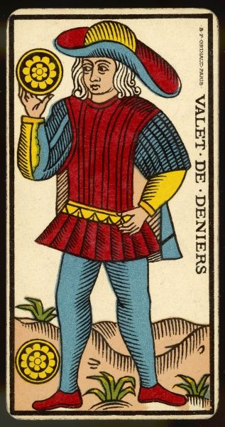Tarot Card - Valet de Deniers (Page of Coins)
