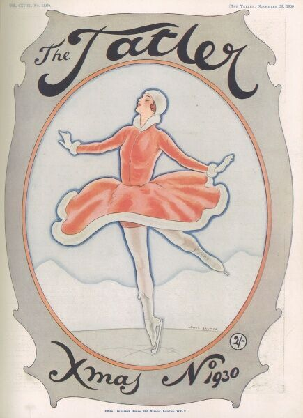 A front cover illustration by Lewis Baumer showing an ice skater