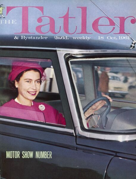 The Tatler front cover featuring a photograph of Queen Elizabeth II at the wheel