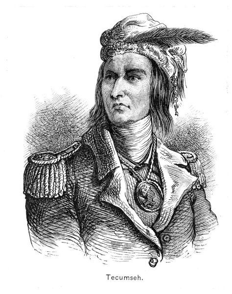 Tecumseh (Tecumtha, Tekamthi, 1768-1813), Native American Indian chief of the Shawnee tribe. He became the chief spokesman for the Indians of the Ohio Valley