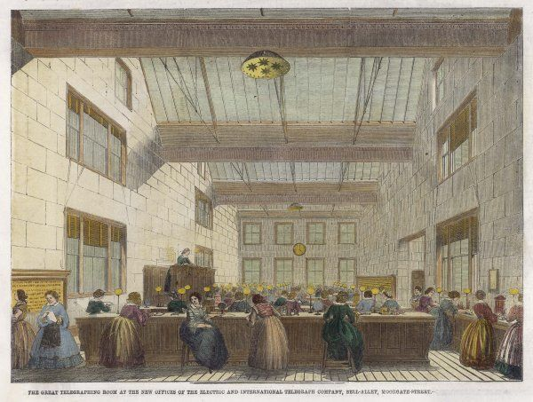 The offices of the Electric and International Telegraph Company in Moorgate Street, London