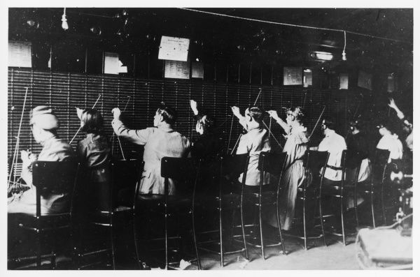 RUSSIAN REVOLUTION - Telephone Exchange captured by Revolutionary Committee troops
