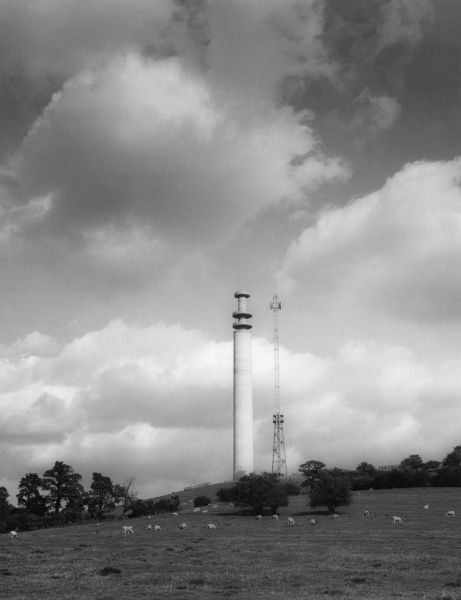 The Television Relay Station on high ground at Charwelton, Northamptonshire, England. Date: 1960s