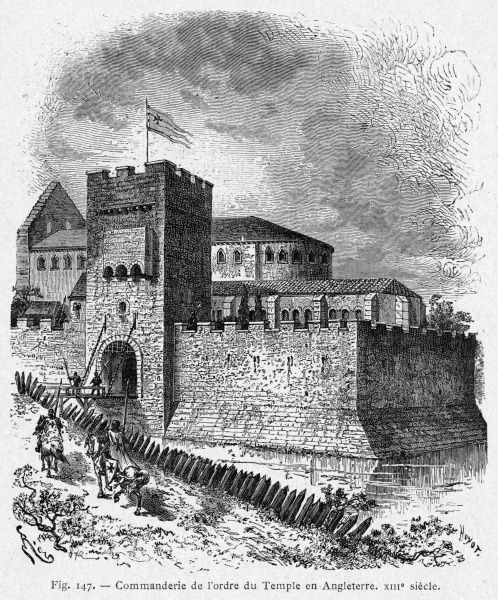 The headquarters of the Knights Templar in London in the 8th century - the origin of the Temple of today